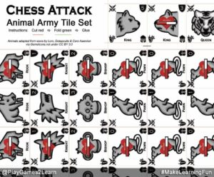 PlayGames2Learn.com - Chess Attack - Animal Army Tileset