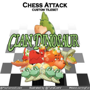 PlayGames2Learn.com - Chess Attack - Clan Dinosaur Tileset