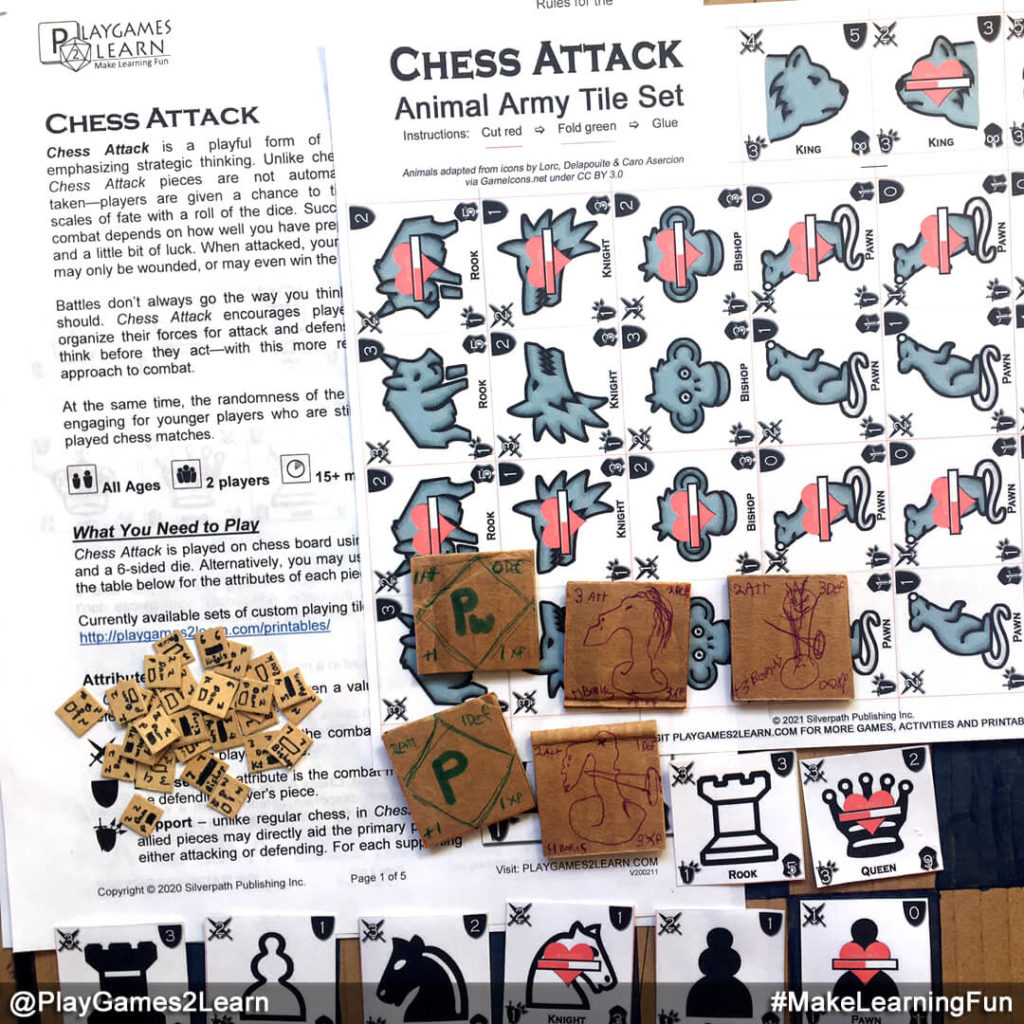 PlayGames2Learn.com - Chess Attack - Origins