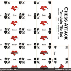 PlayGames2Learn.com - Chess Attack - Template Tileset