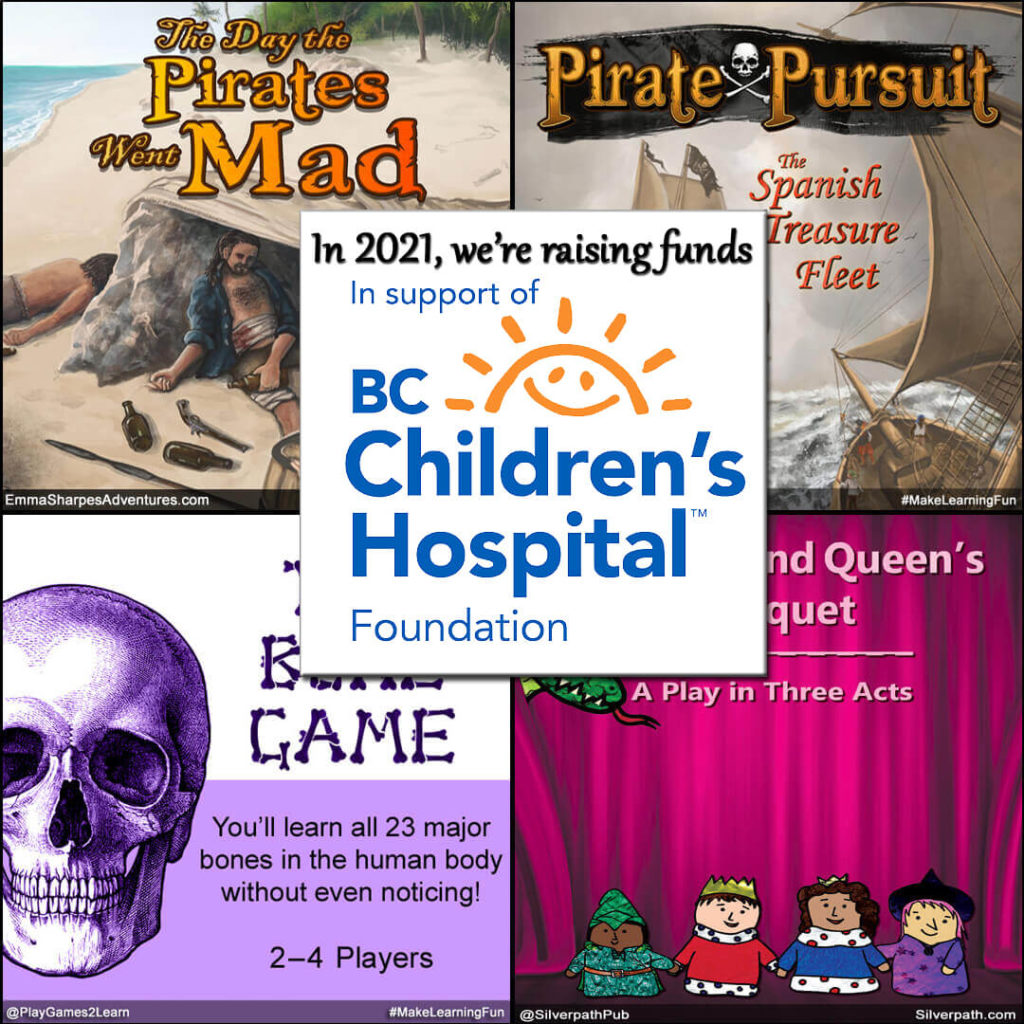 PlayGames2Learn.com - raising funds for BCCHF.ca