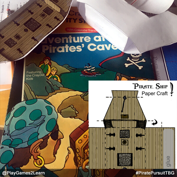 PlayGames2Learn.com - Pirate Ship Paper Craft - Crayola Activity Book
