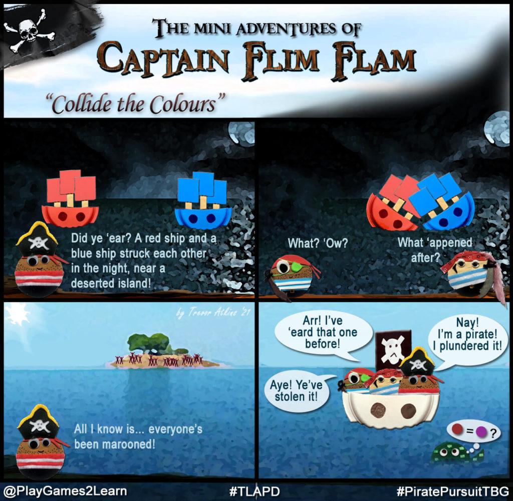 PlayGames2Learn.com - #TLAPD #TalkLikeAPirateDay - Captain Flim Flam comic - Marooned